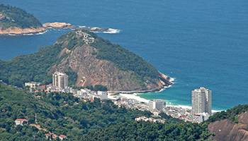 Charming Leme is on the North side of Copacabana