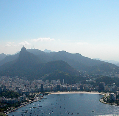 Corcovado Mountain, Botafogo Beach and Bay